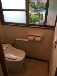 タンクレストイレに取替!!