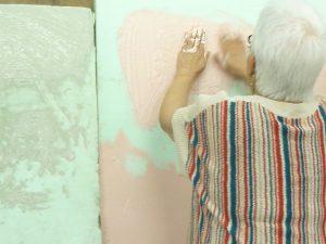 7月14日健康塗り壁体験